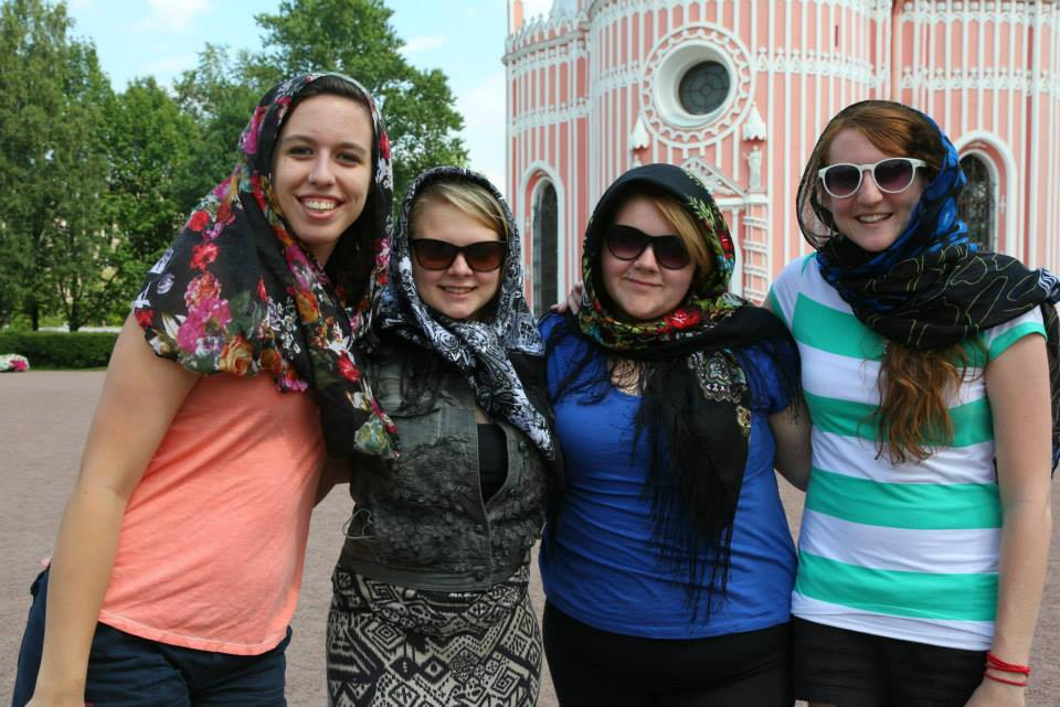 Ladies at Chesma Cathedral