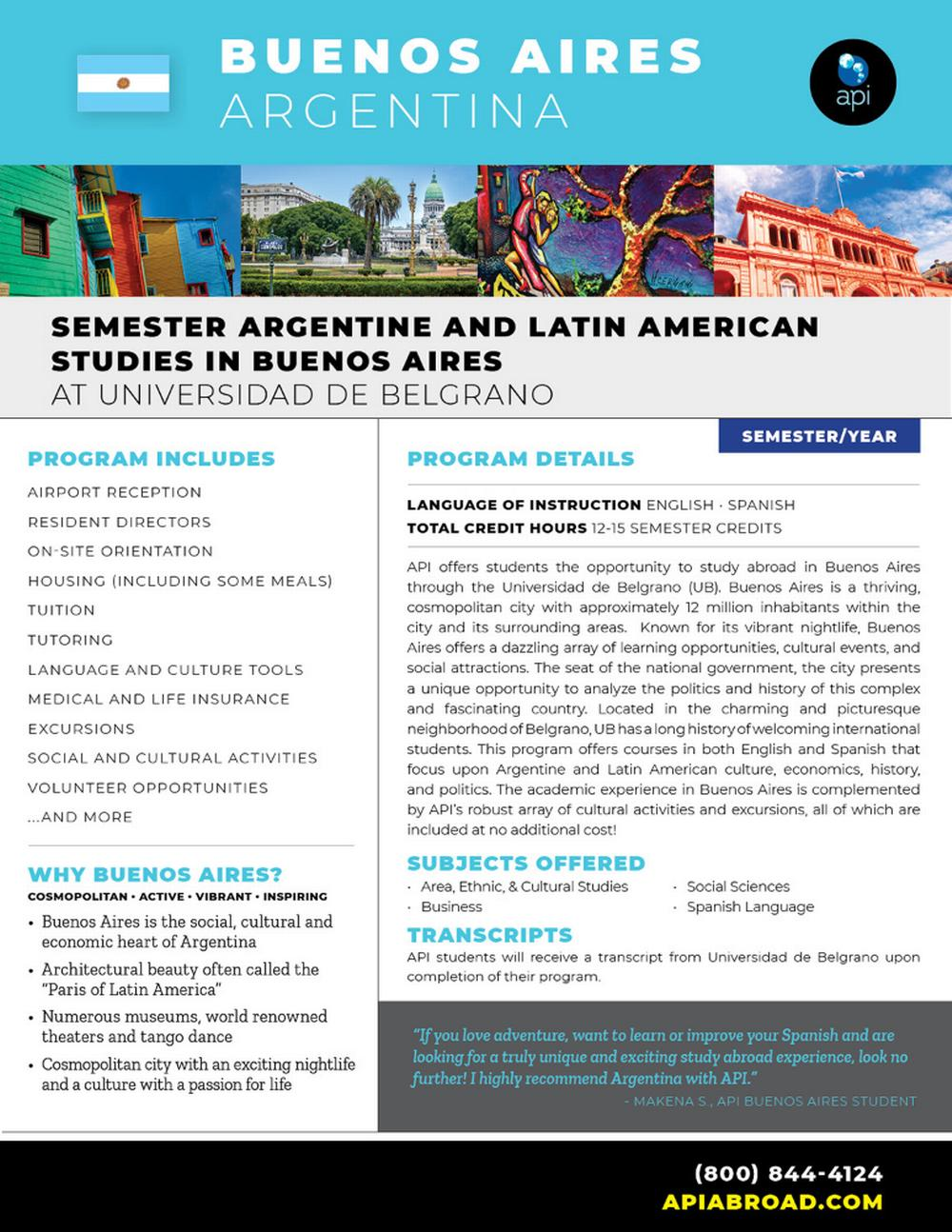 Semester Argentine and Latin A