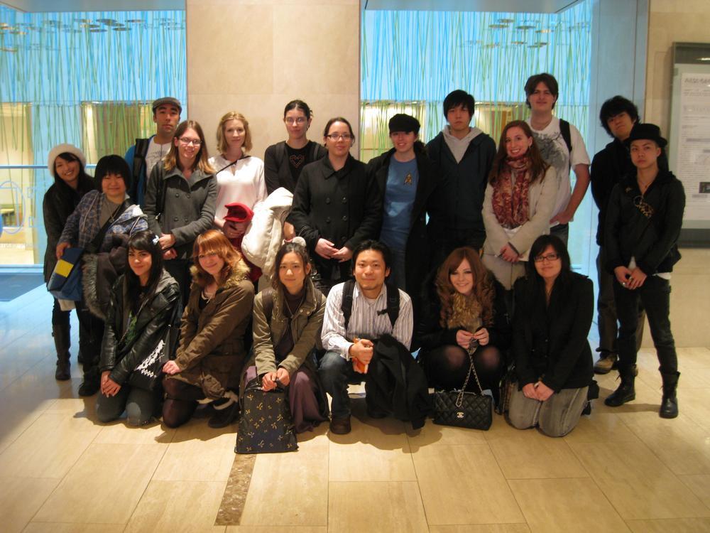 art history class in Tokyo