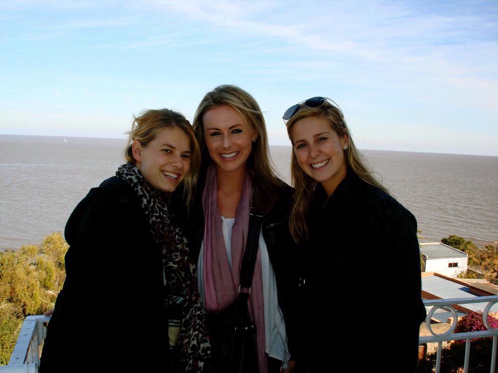 Allyson S - w friends in Uruguay