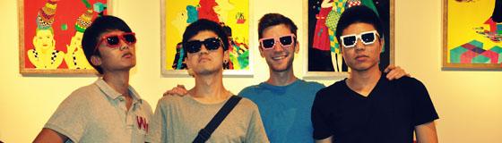 students wearing sunglasses