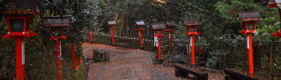 lanterns along walkway
