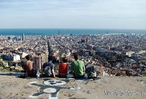 Students Overlook Barcelona