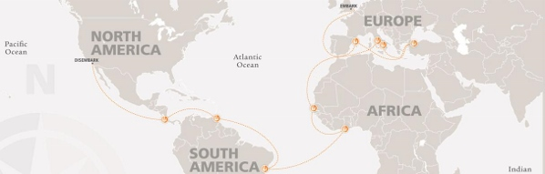 Semester at Sea Fall 2015 voyage route